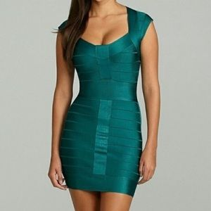 FRENCH CONNECTION Emerald Green Bandage Mini Dress